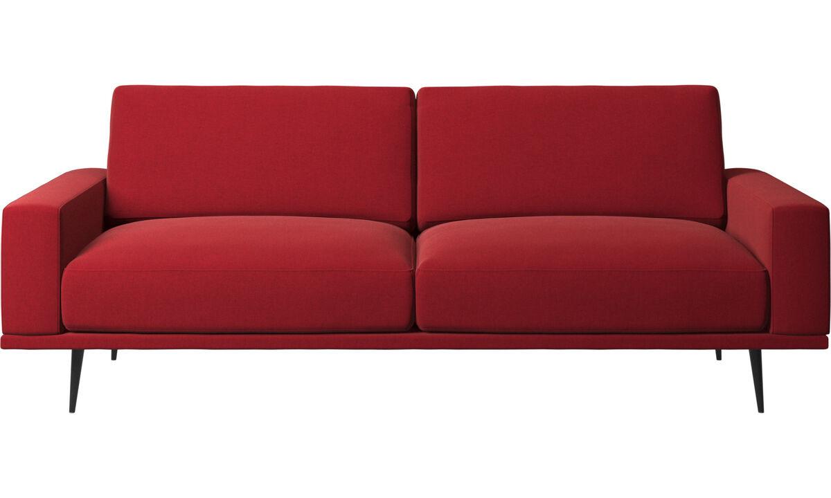 2.5 seater sofas - Carlton sofa - Red - Fabric