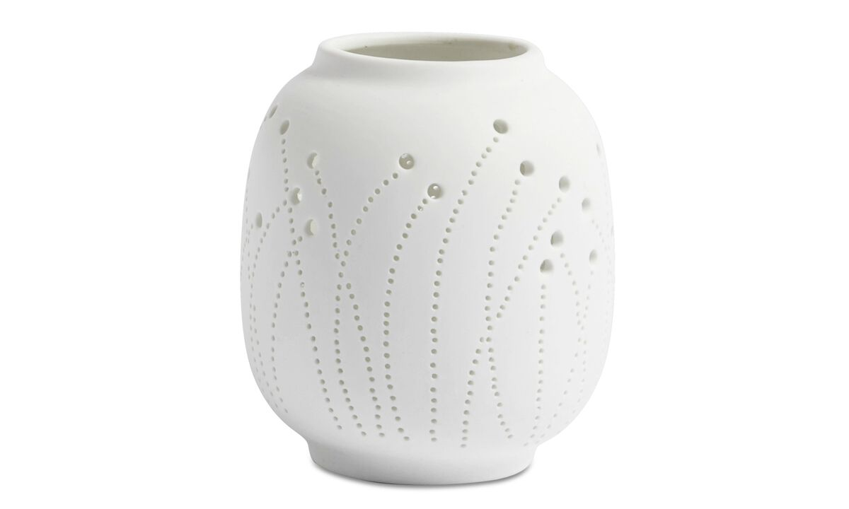 Christmas accessories - Meadow Dots tealight holder - White - Ceramic