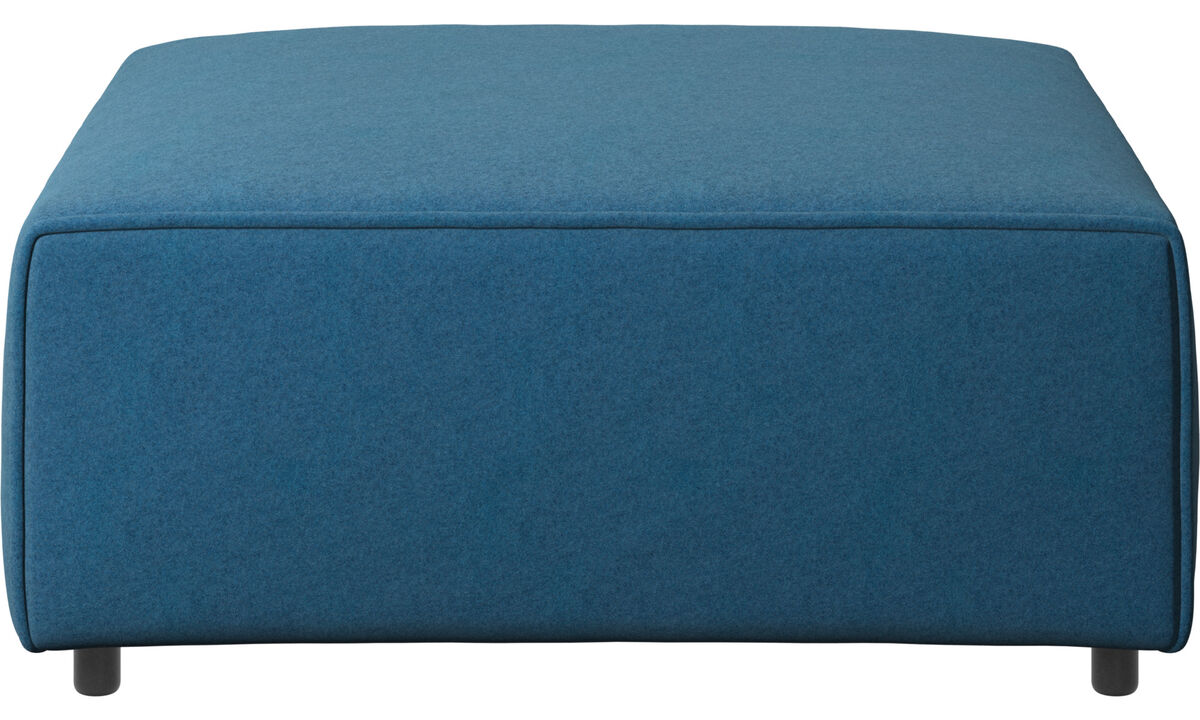Footstools - Carmo footstool - Blue - Fabric