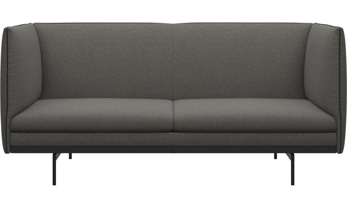 2 seater sofas - Nantes sofa - Black - Fabricleather