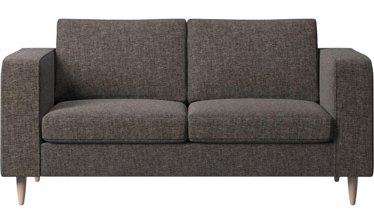 2 seater sofas - Indivi sofa - Brown - Fabric
