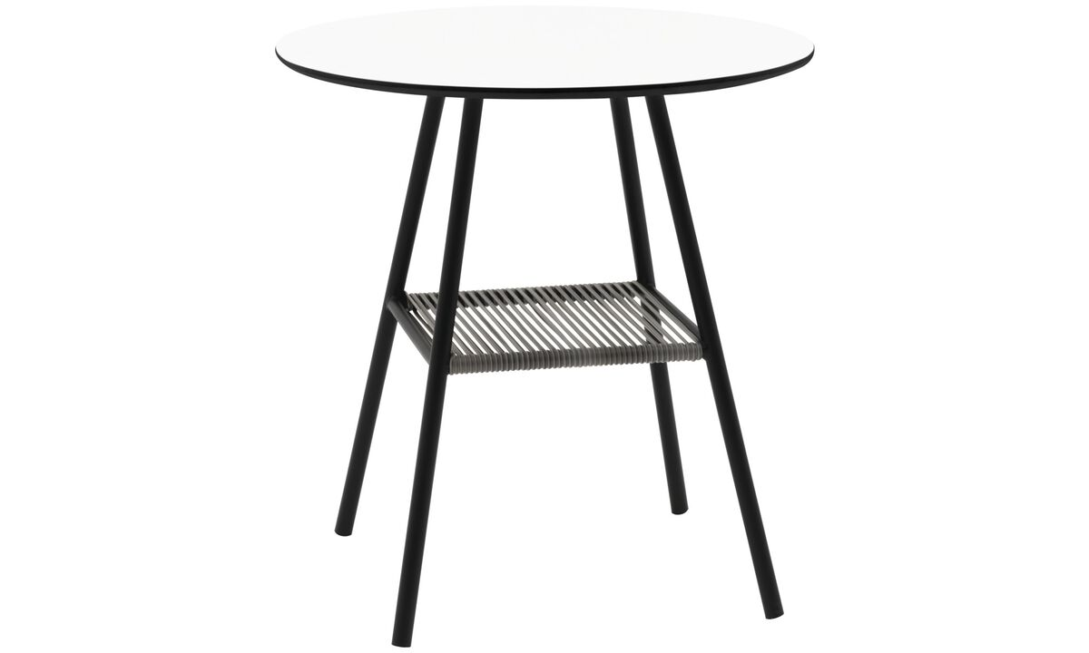 Outdoor tables - Elba table (for in- and outdoor use) - round - White - Laminate