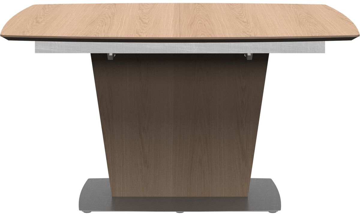 Design furniture in time for Christmas - Milano table with supplementary tabletop - square - Brown - Oak