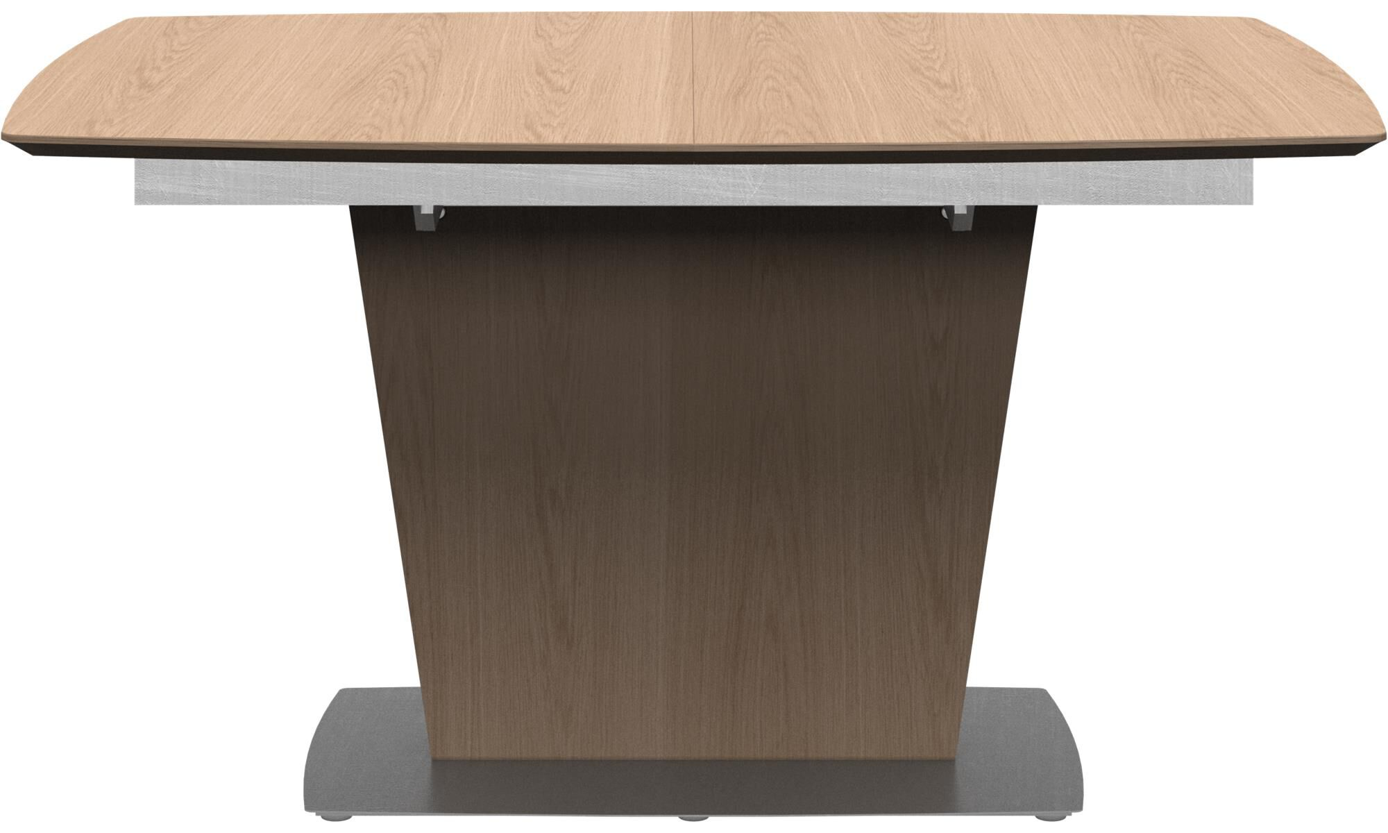 Dining Tables   Milano Table With Supplementary Tabletop   Square   Brown    Oak