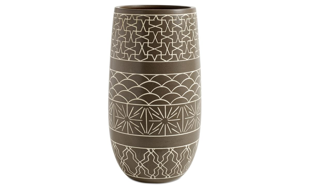 New designs - Ethnic vase - Brown - Ceramic