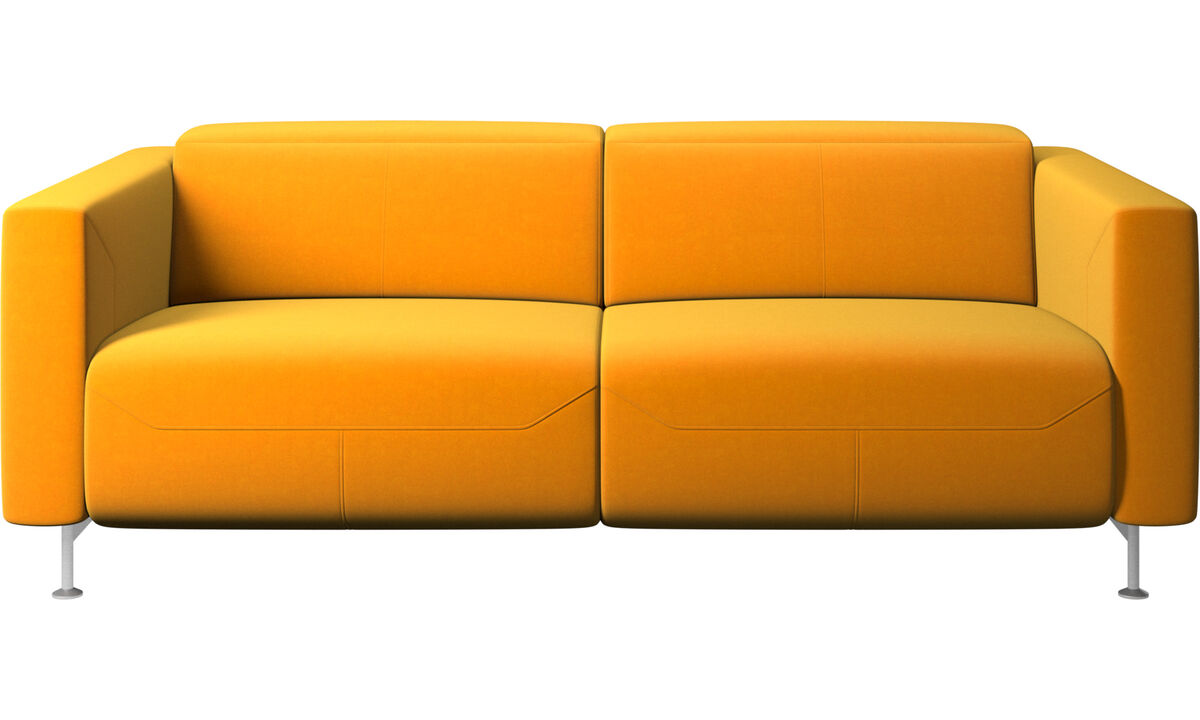 Relax-Sofas - Parma Sofa mit Lehnfunktion - Orange - Stoff