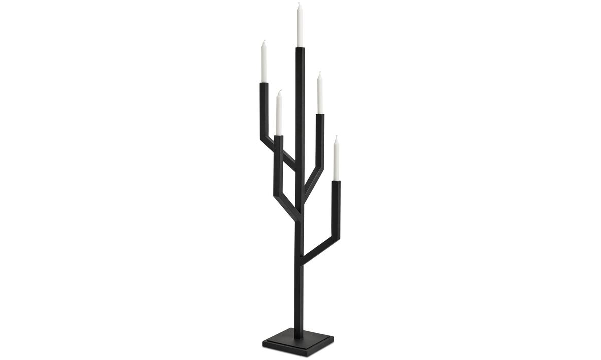 Lysestaker - Tree Candlestick - Sort - Metall