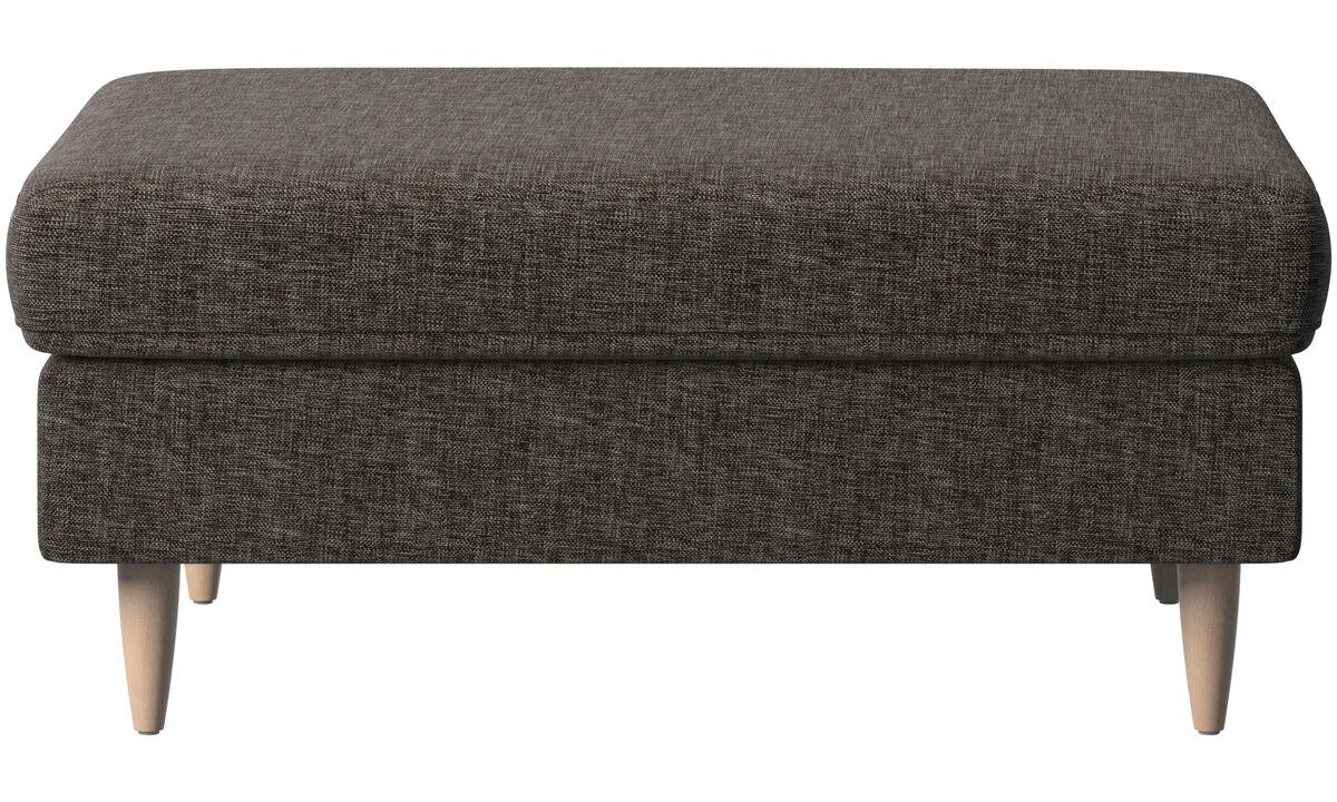 Footstools - Indivi 2 footstool - Brown - Fabric