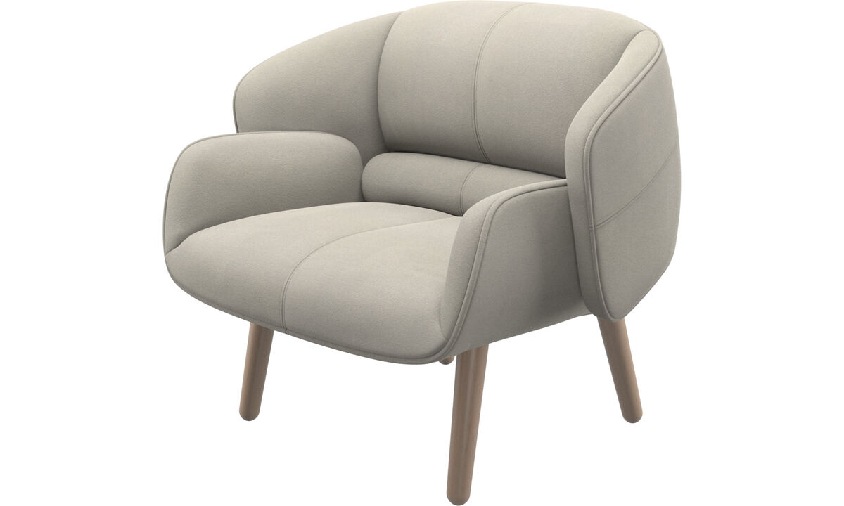 Armchairs - fusion chair - White - Fabric