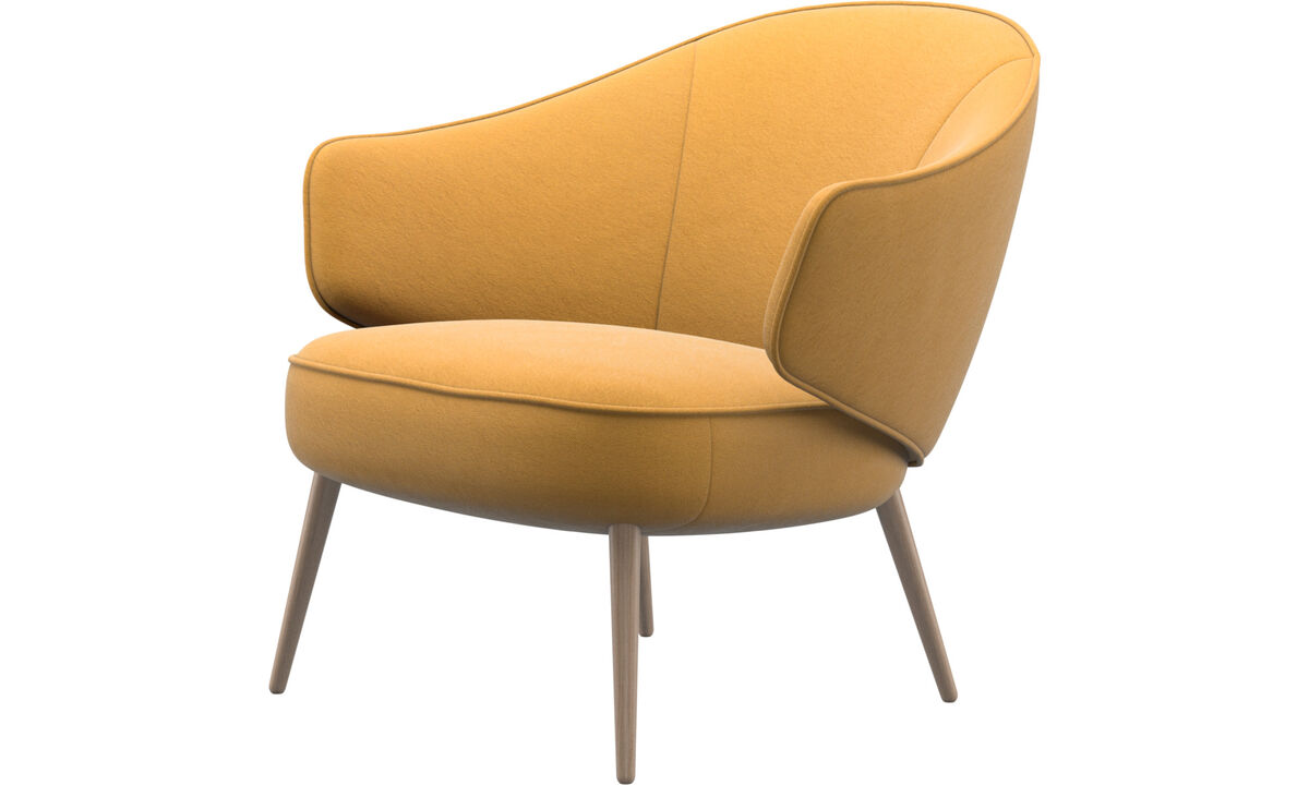 Armchairs - Charlotte chair - Yellow - Fabric