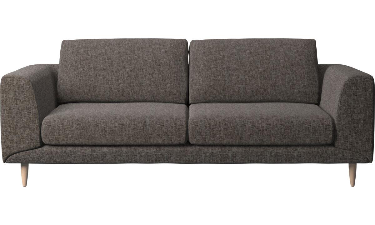 2½-sitzer Sofas - Fargo Sofa - Braun - Stoff