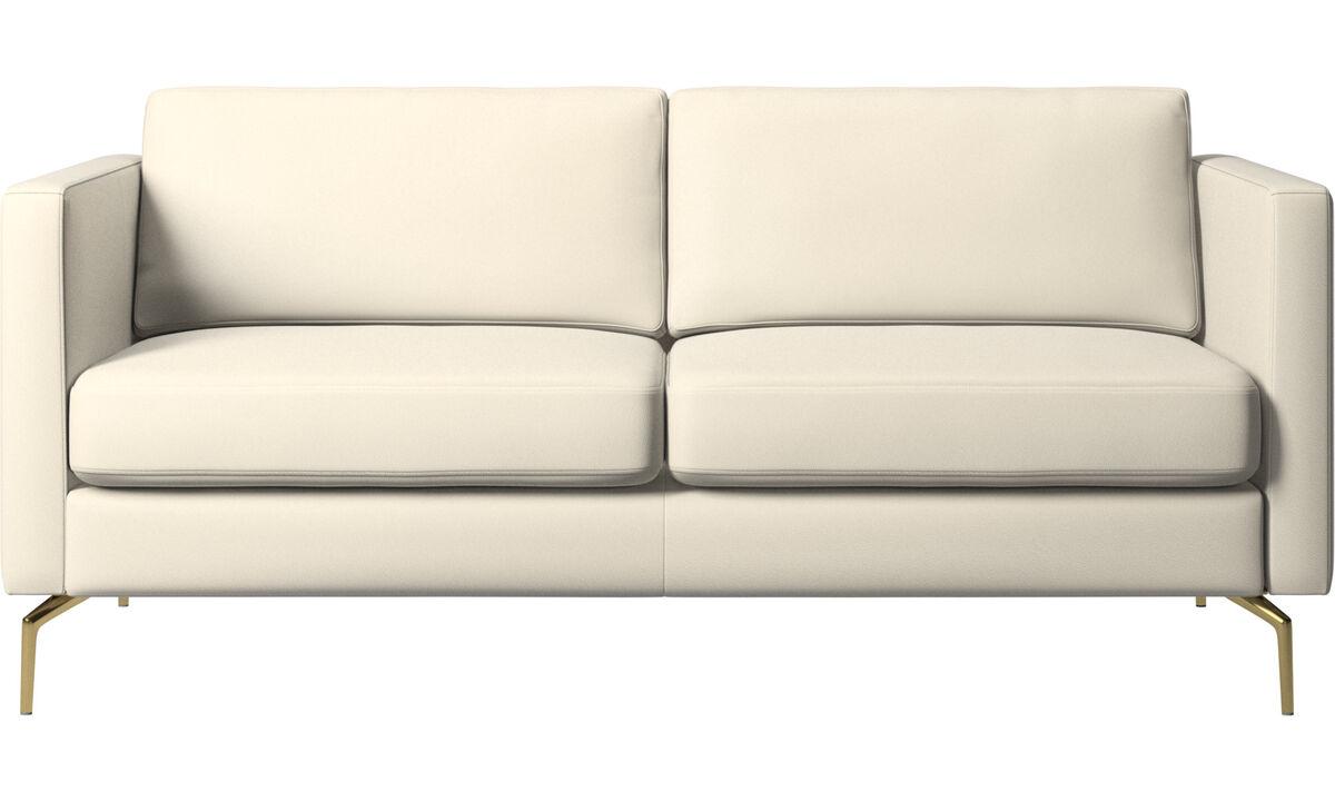 Canapés 2 places - canapé Osaka, assise classique - Blanc - Cuir