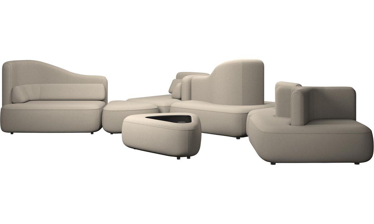 Sofás modulares - sofá Ottawa - En beige - Tela