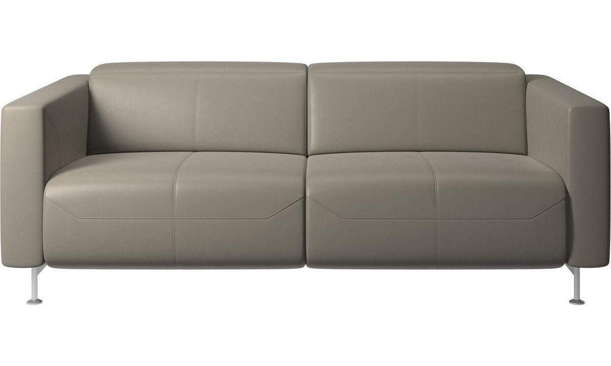 Двухместные диваны - Диван-реклайнер Parma - Серого цвета - Кожа