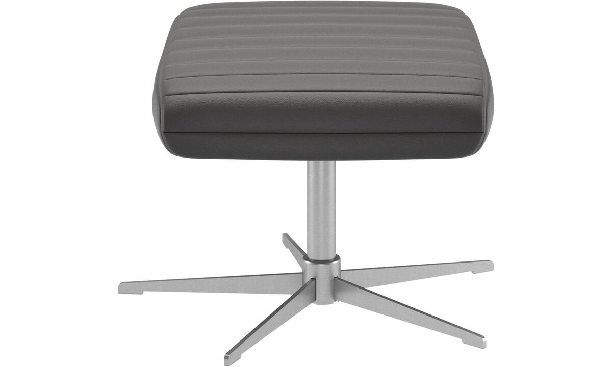 New designs - Wing footstool - Grey - Leather