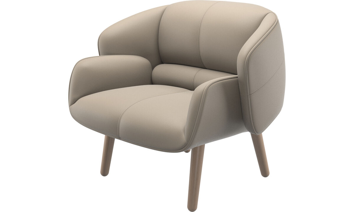 Armchairs - fusion chair - Beige - Leather