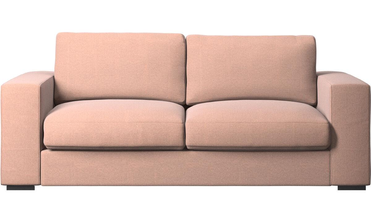 2.5 seater sofas - Cenova sofa - Red - Fabric