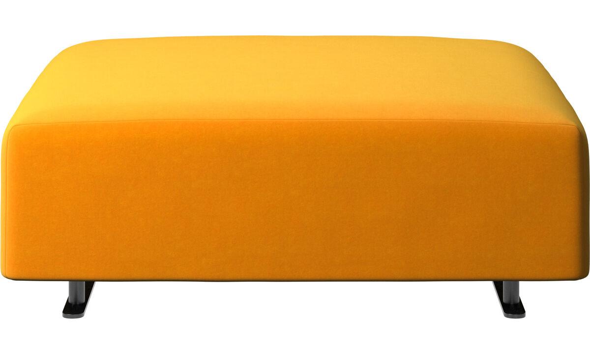 Footstools - Hampton footstool - Orange - Fabric