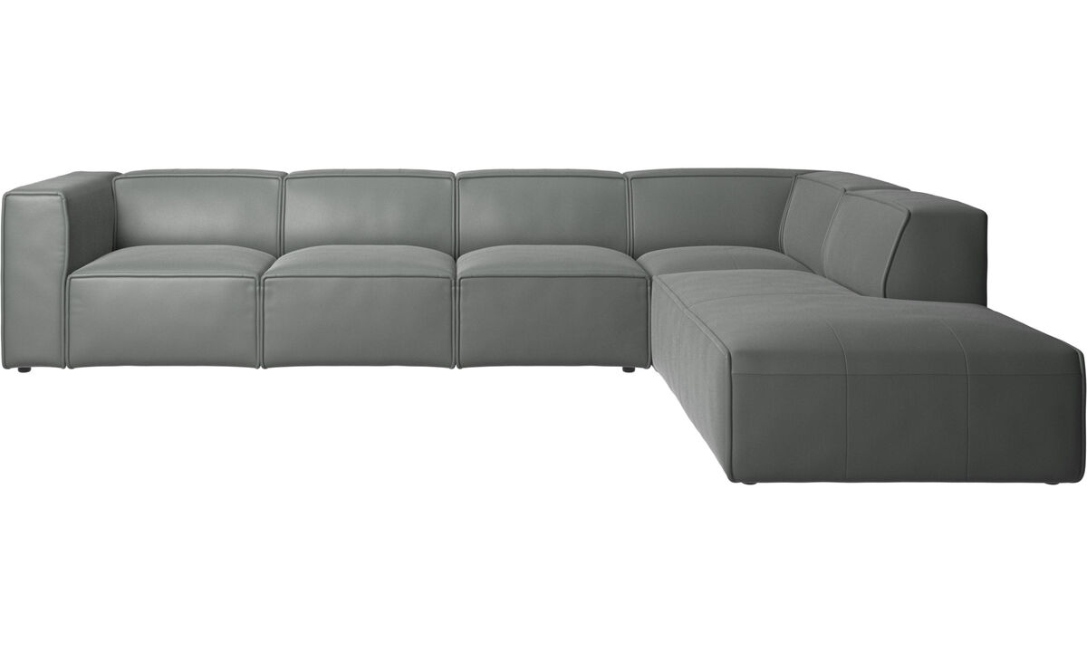 Corner sofas - Carmo corner sofa - Gray - Leather