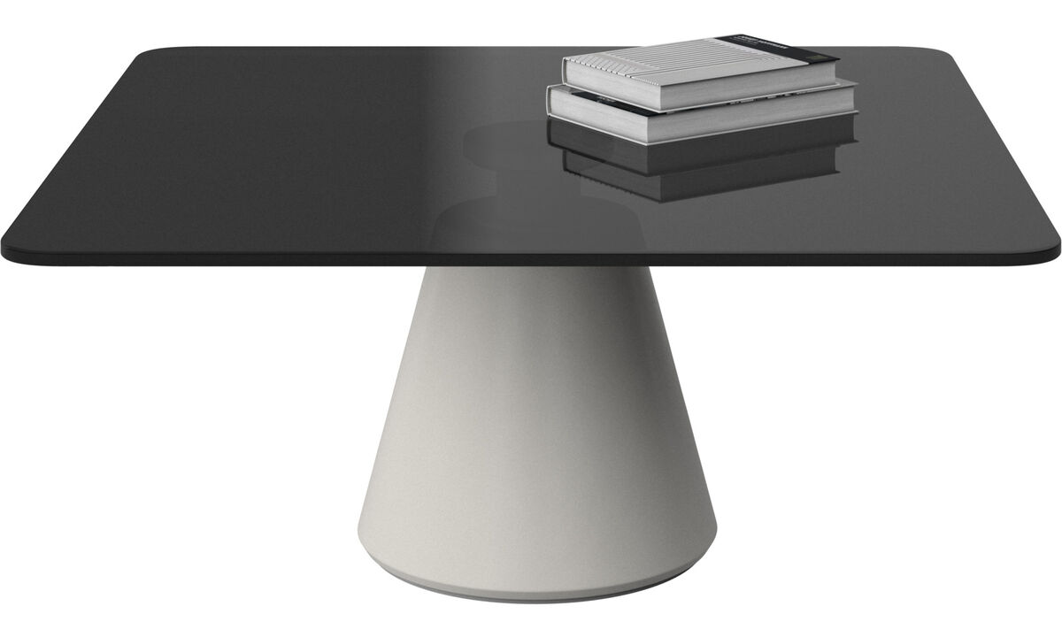 Coffee Tables Madrid Table Square Gray Glass
