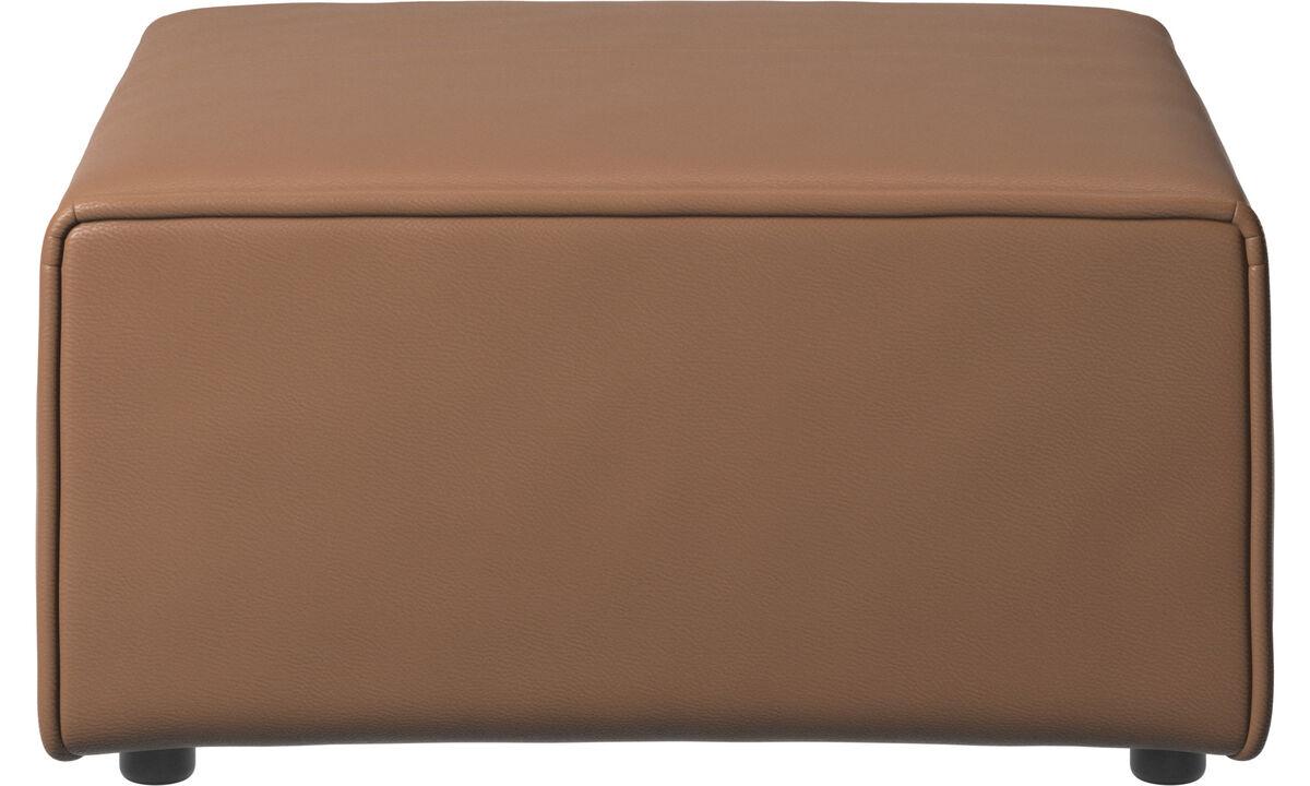 Sofás modulares - puf Carmo - En marrón - Piel