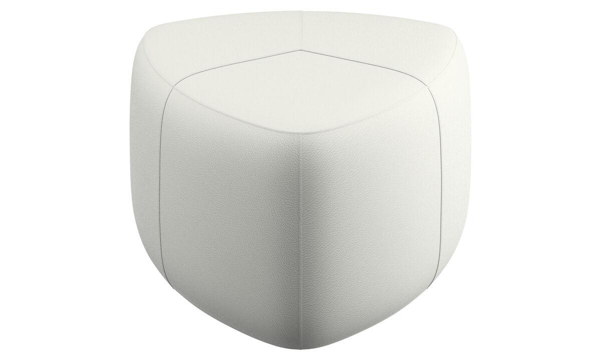 软垫凳 - Bermuda 脚凳 - 白色 - 革