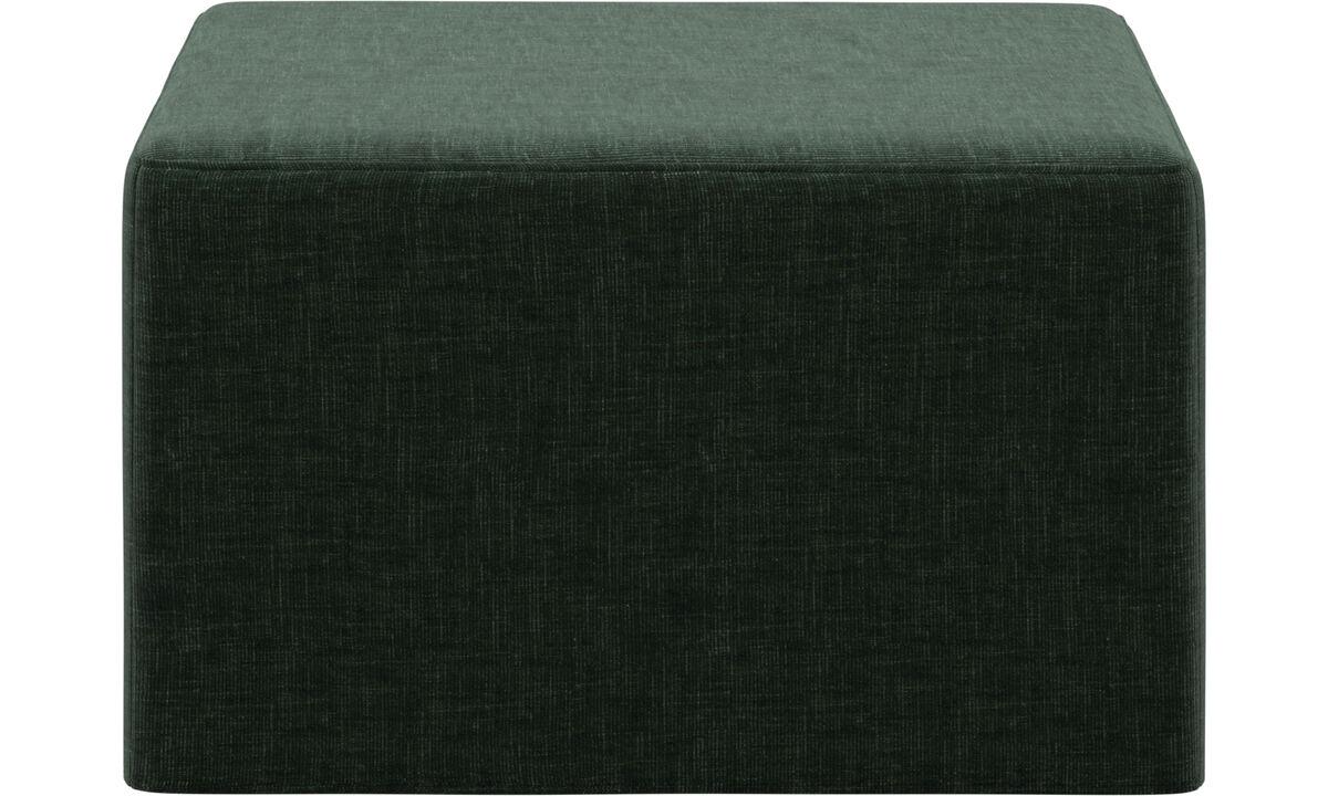 Sofa beds - Xtra footstool with sleeping function - Green - Fabric