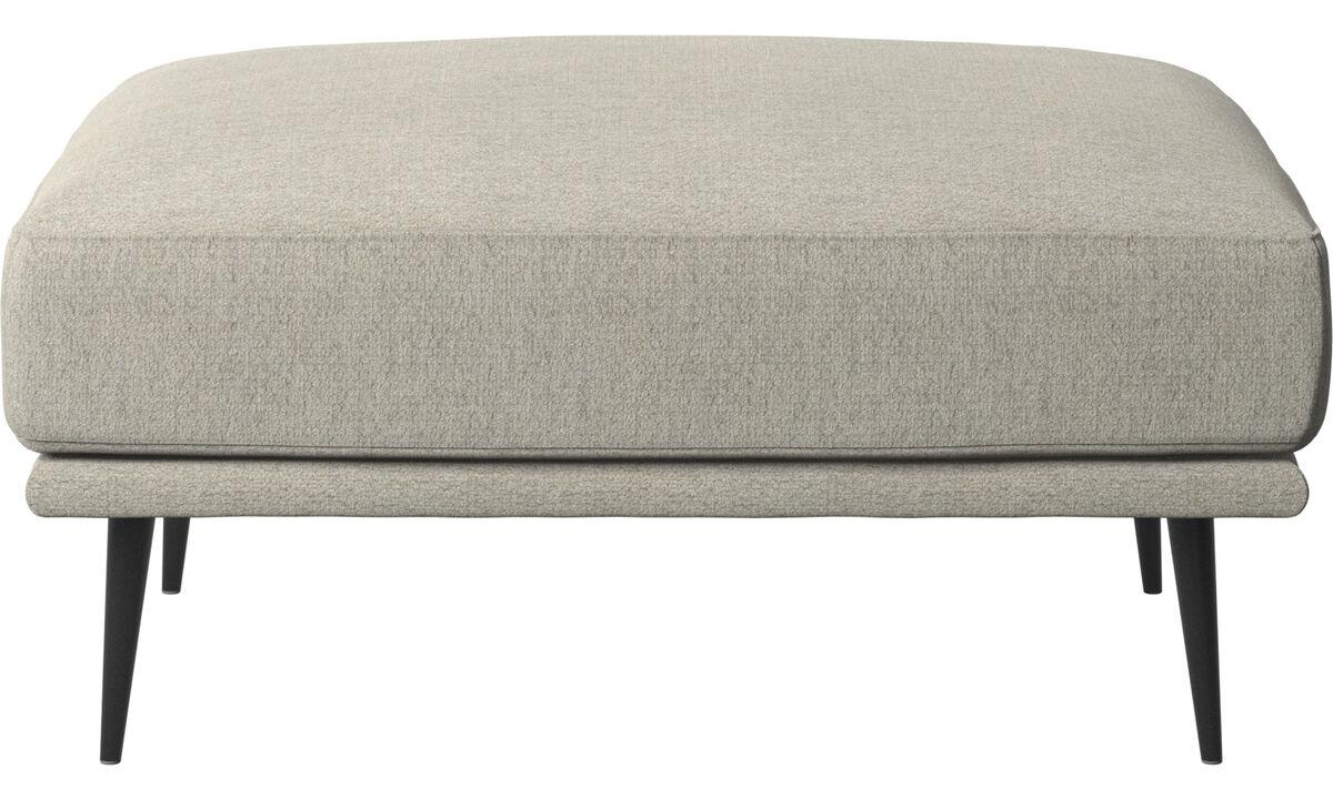 Footstools - Carlton footstool - Beige - Fabric
