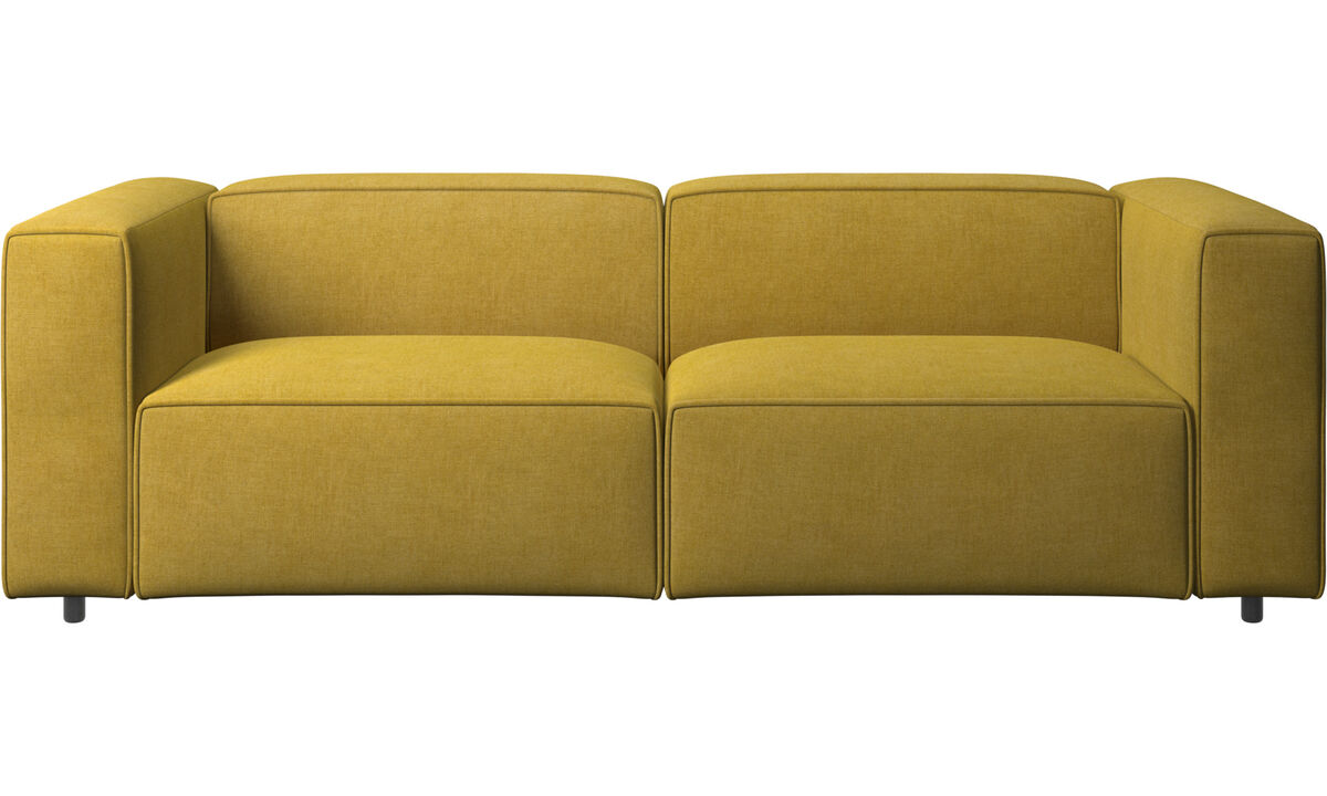 Sofás de 2 plazas y media - Sofá Carmo con movimiento - En amarillo - Tela