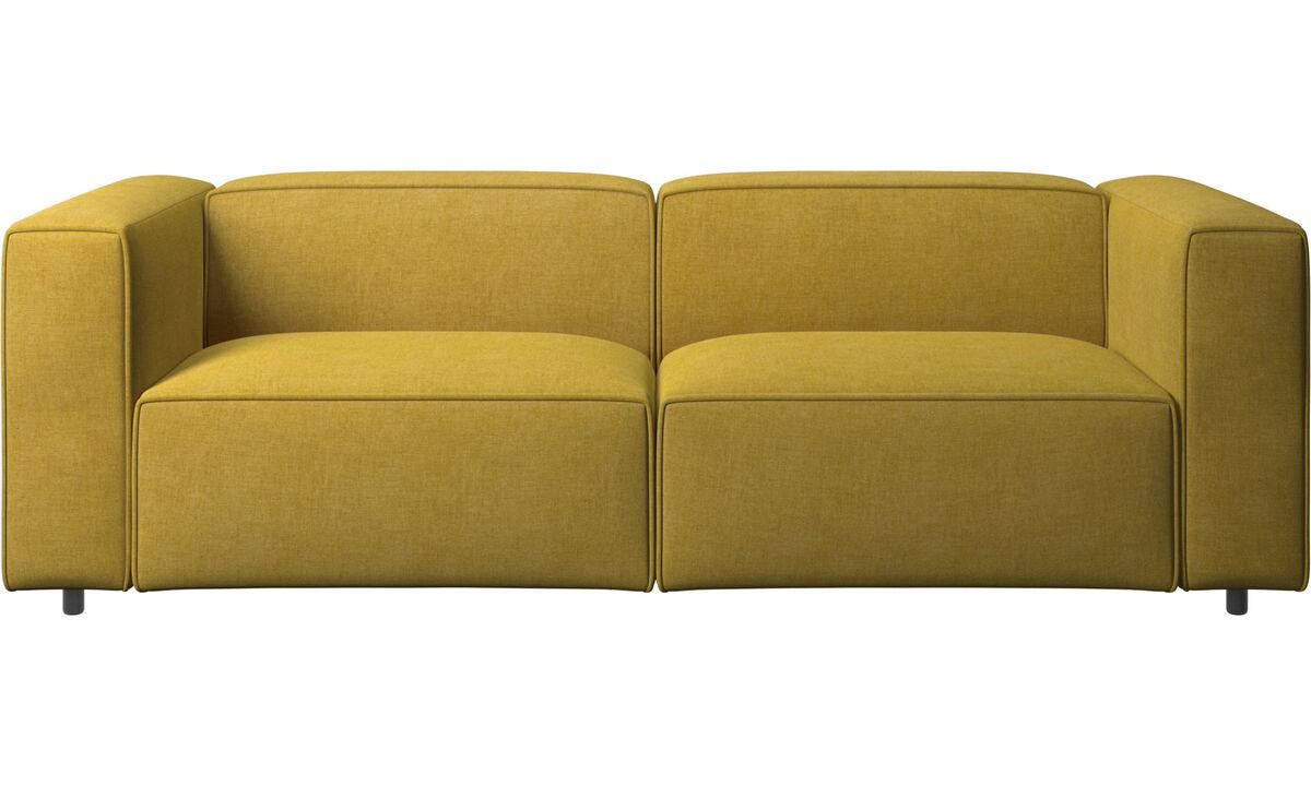 Sofás reclinables - Sofá Carmo con movimiento - En amarillo - Tela