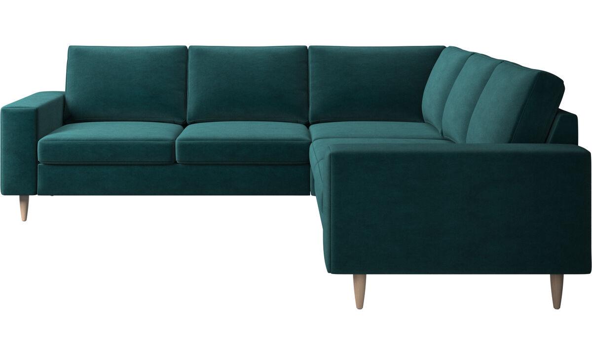 Corner sofas - Indivi 2 corner sofa - Blue - Fabric