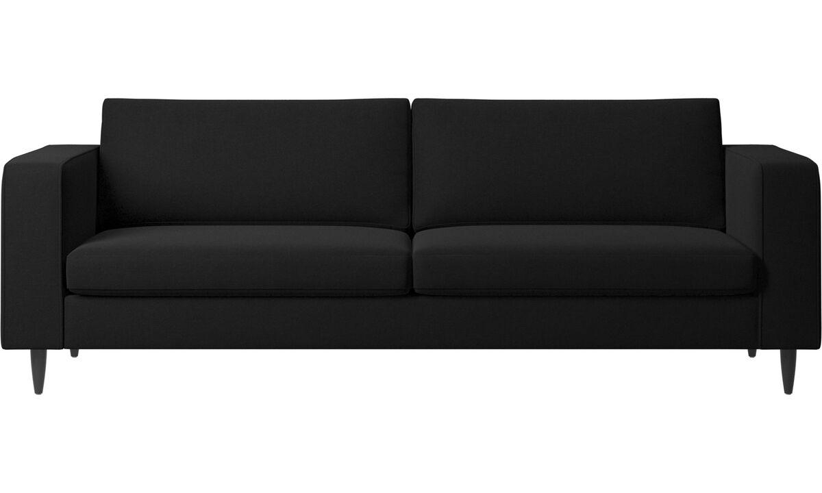 3 seater sofas - Indivi sofa - Black - Fabric