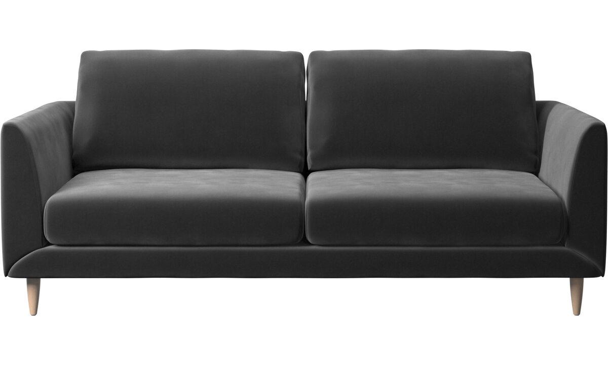 2.5 seater sofas - Fargo sofa - Black - Fabric