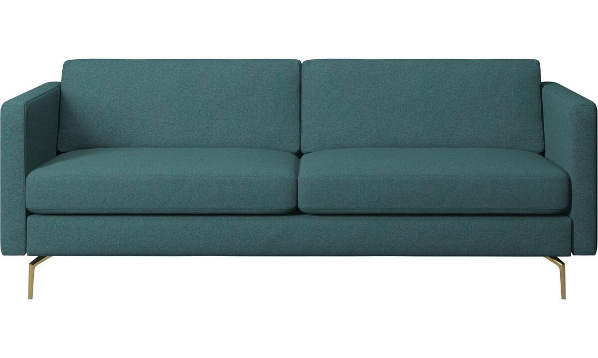 2.5 seater sofas - Osaka sofa, regular seat - Green - Fabric