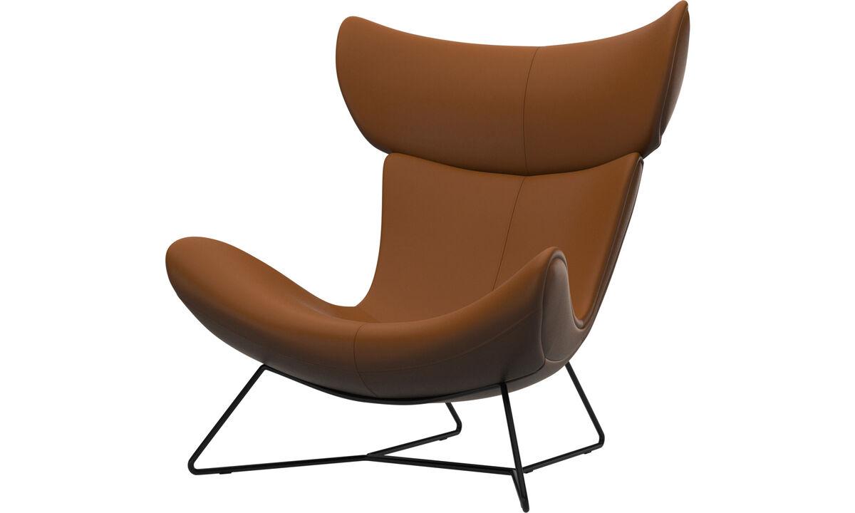 Fauteuils - Imola fauteuil - Bruin - Leder