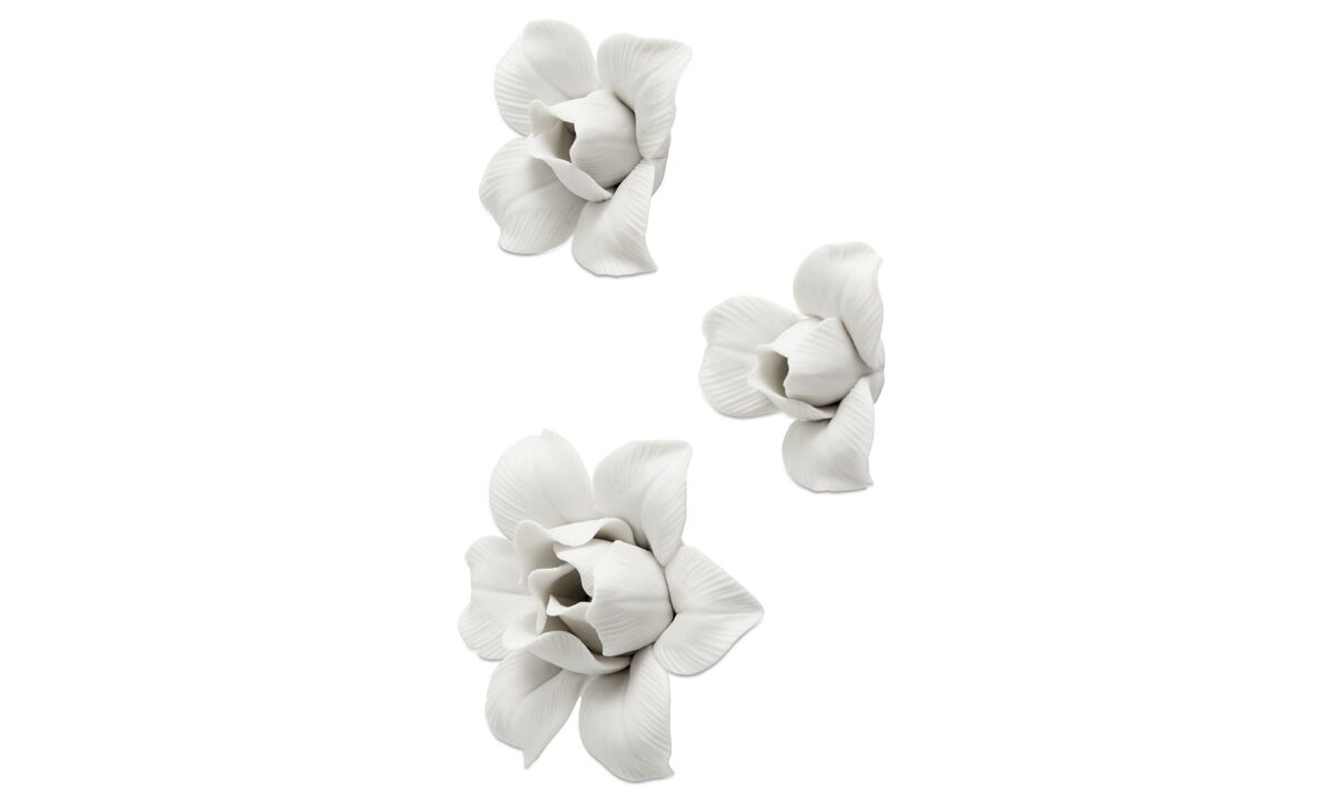 Wall decorations - Decoratiune de perete Tulip - Alb - Ceramica