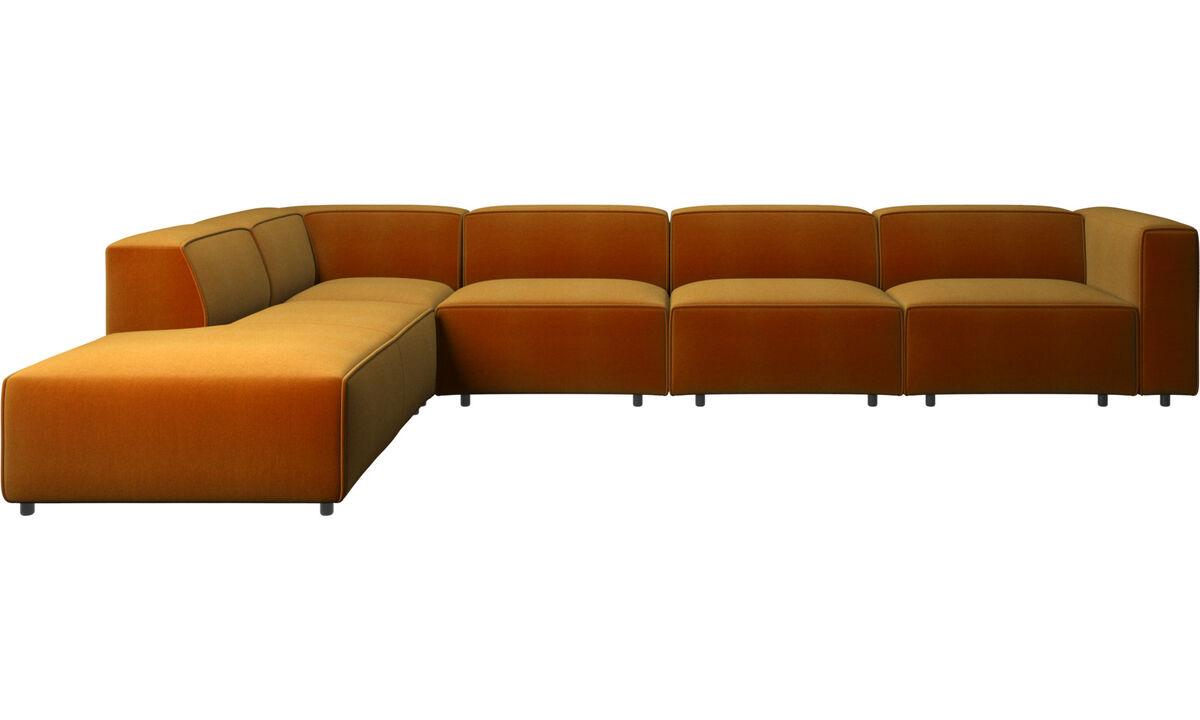 Corner sofas - Carmo motion corner sofa - Yellow - Fabric