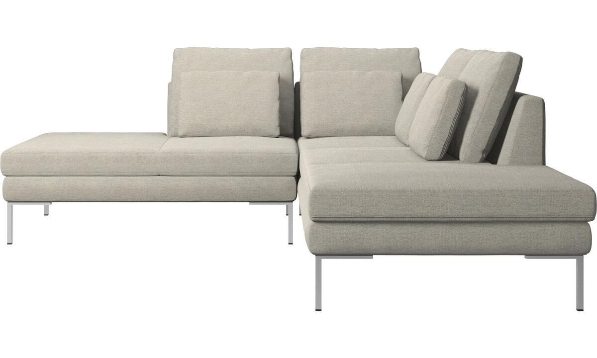 Диваны без подлокотников - диван Istra 2 с модулем для отдыха - Бежевого цвета - Tкань