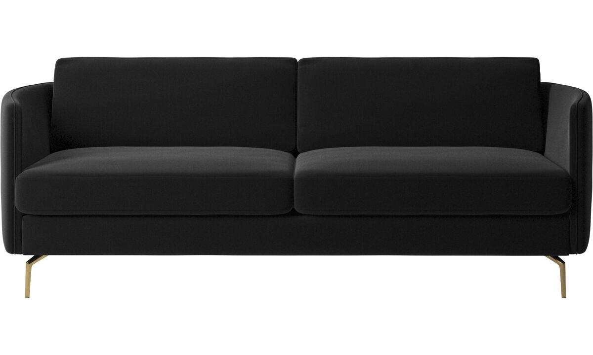 Canapés 2 places et demi - canapé Osaka, assise classique - Noir - Tissu