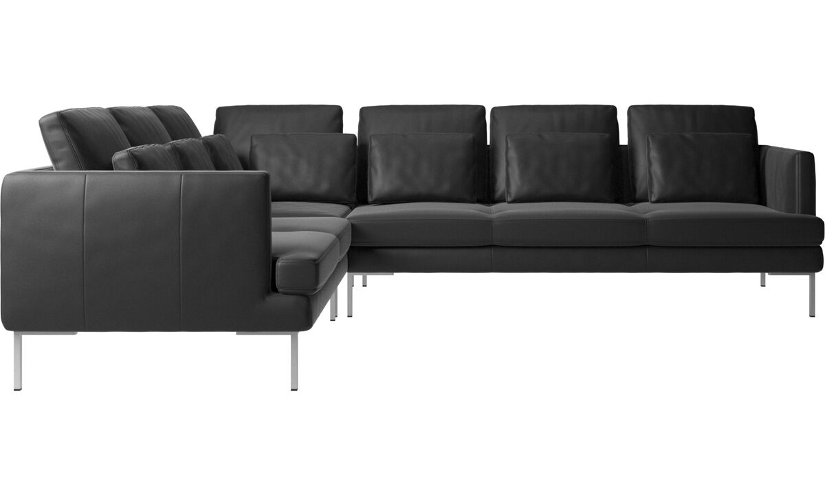 Corner sofas - Istra 2 corner sofa - Black - Leather