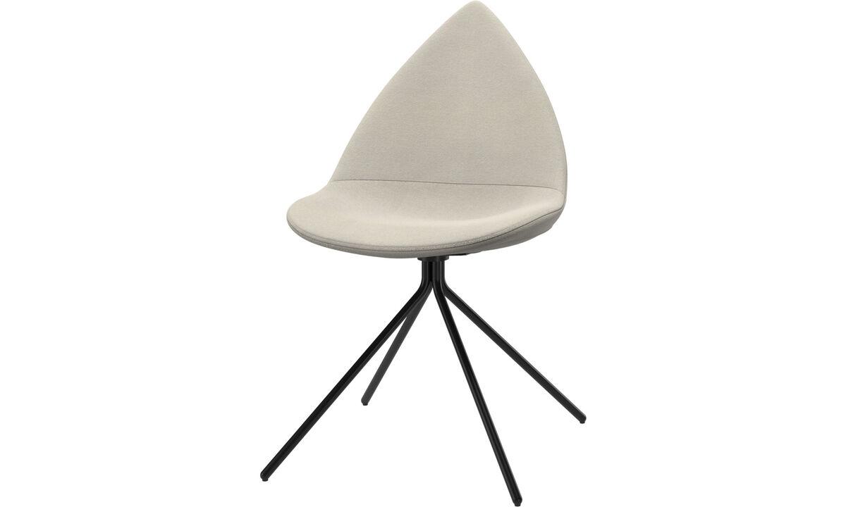 Dining chairs - Ottawa chair - White - Fabric