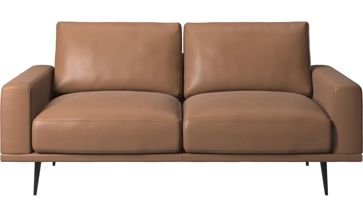 Sofás de 2 plazas - sofá Carlton - En marrón - Piel