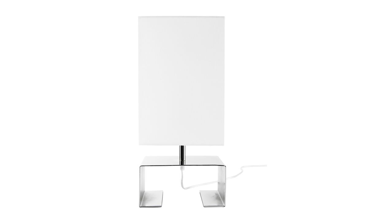 Lamps - Quadro single table lamp - White - Metal