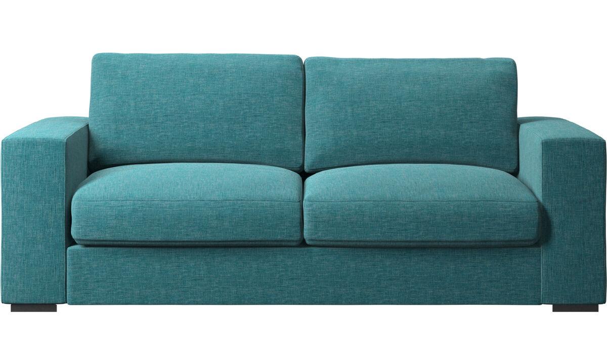 Sofás de 2 plazas y media - Sofá Cenova - En azul - Tela