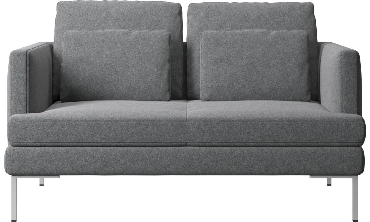 2 seater sofas - Istra 2 sofa - Grey - Fabric