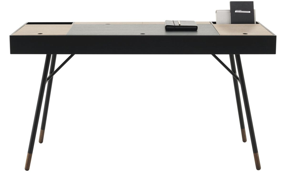 Desks - Cupertino desk - square - Black - Oak
