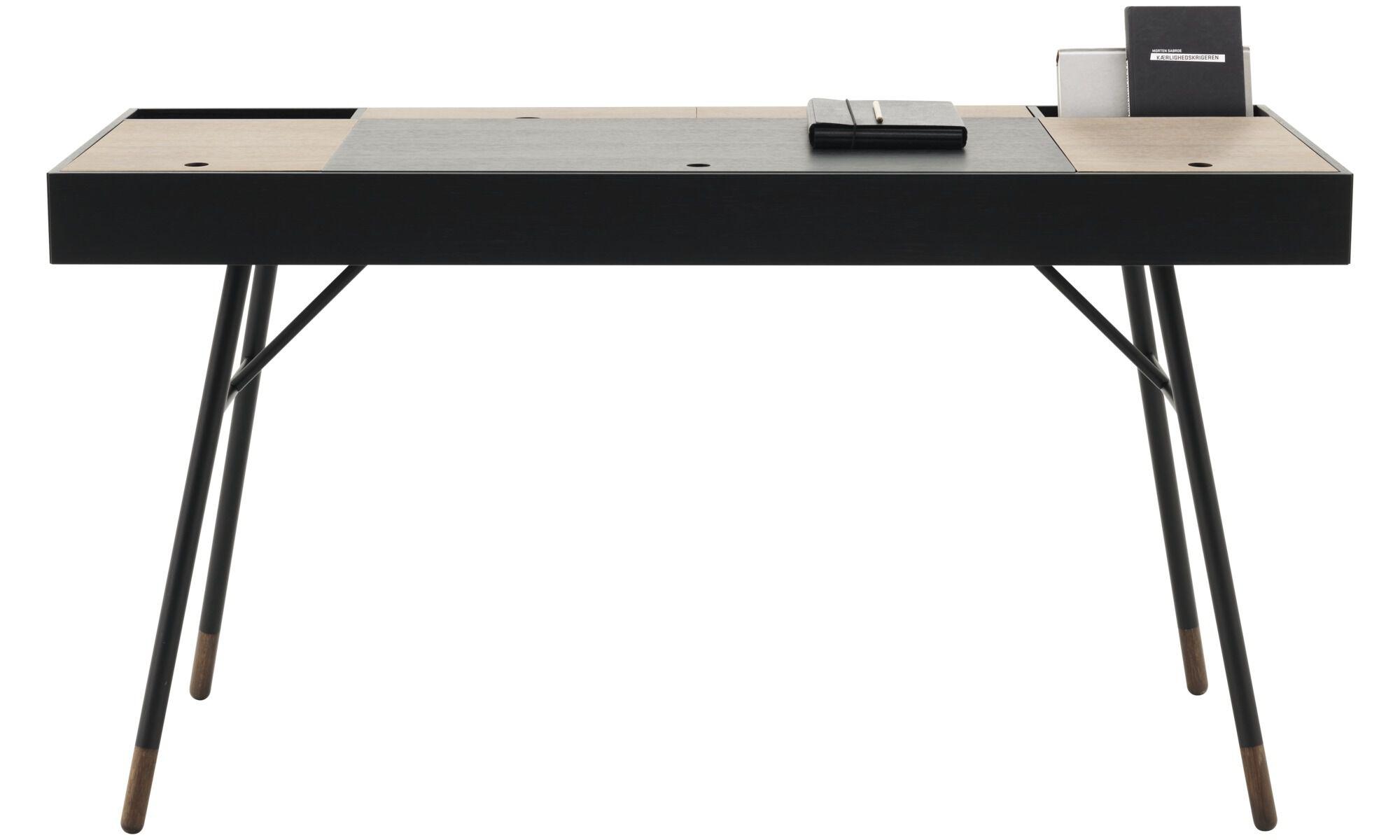 desks cupertino desk square black oak