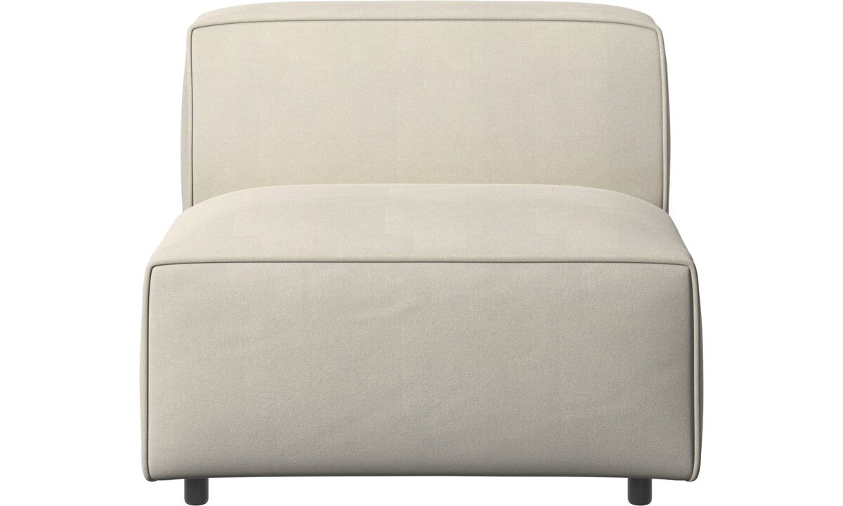 Armchairs - Carmo chair/basic unit - White - Fabric