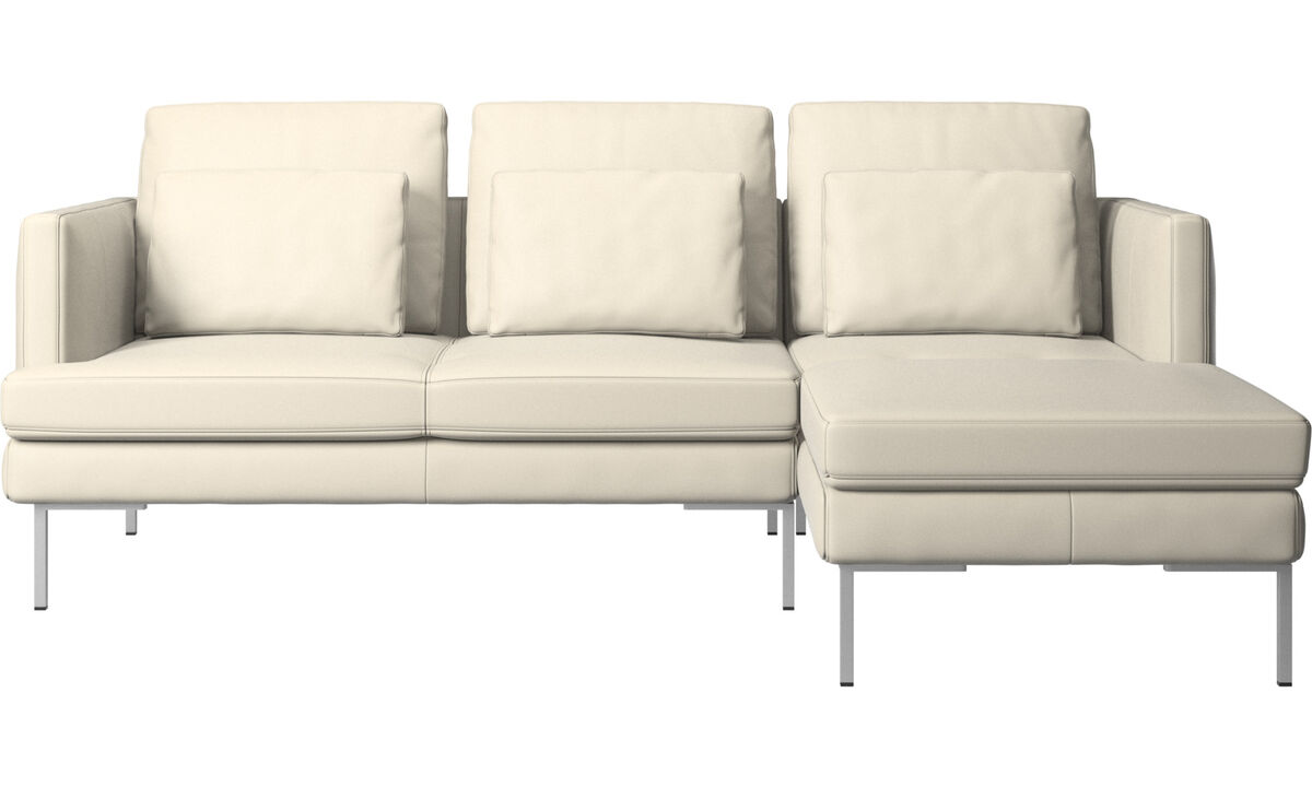 3 seater sofas - Istra 2 sofa with resting unit - White - Leather