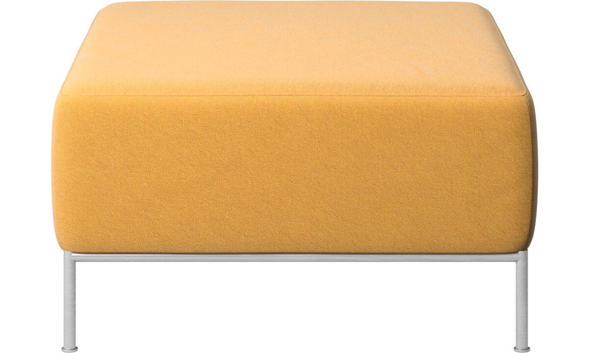 Footstools - Miami footstool - Yellow - Fabric